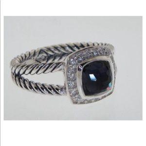 DAVID YURMAN ALBION 7MM BLACK ORCHID DIAMOND RING